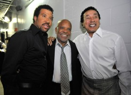 Lionel Richie, Berry Gordy and Smokey Robinson // Michael Jackson's Public Memorial (Backstage)