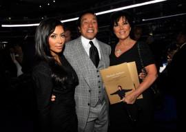 Kim Kardashian, Smokey Robinson and Kris Jenner // Michael Jackson's Public Memorial (Backstage)