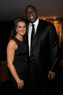 "Brooke Shields and Earvin ""Magic"" Johnson // Michael Jackson's Public Memorial (Backstage)"