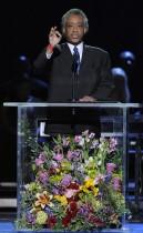 Rev. Al Sharpton // Michael Jackson's Public Memorial at Los Angeles' Staples Center