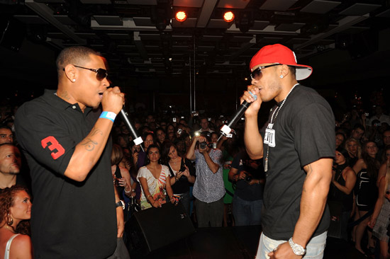 City Spud of the St. Lunatics and Nelly perform at The Mirage's Jet Nightclub in Vegas