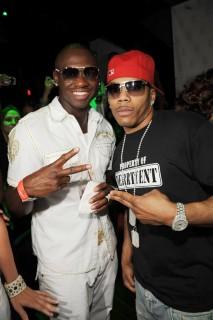 Pro Boxer Antonio Tarver and Nelly at The Mirage\'s Jet Nightclub