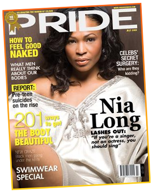 Nia Long covers July 2009 Pride Magazine
