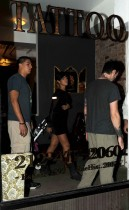 Rihanna at East Side Ink in NYC (July 1st 2009)