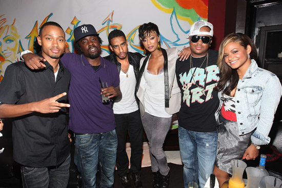 "Terrence J, Wale, Ryan Leslie, Keri Hilson, Terius ""The Dream"" Nash and Christina Milian // BET Rising Icons Event at 1OAK in NYC"
