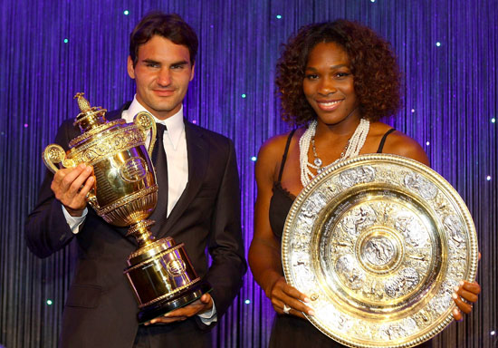 Roger Federer & Serena Williams // Wimbledon Winners Party