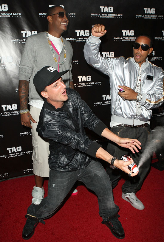Carmelo Anthony, Ludacris and Rob Dyrdek // TAG Signature Series Body Spray Launch Party