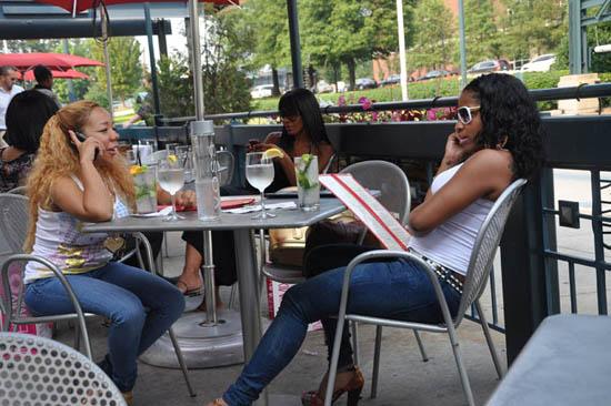Tiny, Toya and Sheree Whitfield at Twist in Atlanta (July 6th 2009)
