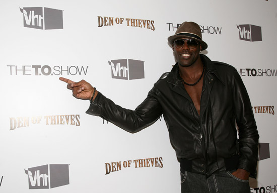 "Terrell Owens // VH1 Premiere Party for ""The T.O. Show"""