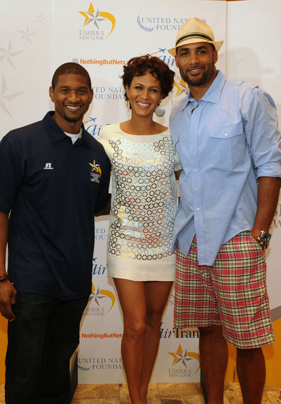 Usher, Nicole Ari Parker and Boris Kodjoe // Closing Ceremony for Usher's Camp New Look in Atlanta