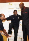 Shawn Wilson (Camp Director), Usher and Alonzo Mourning // Closing Ceremony for Usher's Camp New Look in Atlanta