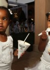 Diddy's twin daughters D'Lila Star & Jessie James // Diddy & Ashton Kutcher's White Party