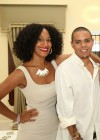 Tracee Ellis Ross & her lil bro Evan Ross // Diddy & Ashton Kutcher's White Party