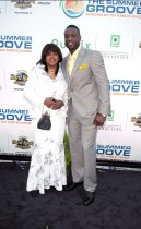 "Dwyane Wade and his mother Jolinda // Zo Summer Groove Publix Charities Benefit Dinner - ""Deco After Dark"""