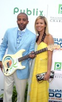 "Kevin Liles and his wife Erika Jones // Zo Summer Groove Publix Charities Benefit Dinner - ""Deco After Dark"""