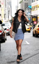 Amerie at Elle Magazine's Offices