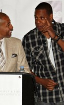 """Kevin Liles and Jay-Z // """"Answer the Call"""" charity concert press conference in NYC"""