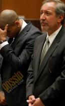 Chris Brown at his sentencing at L.A. County Superior Court (August 25th 2009)