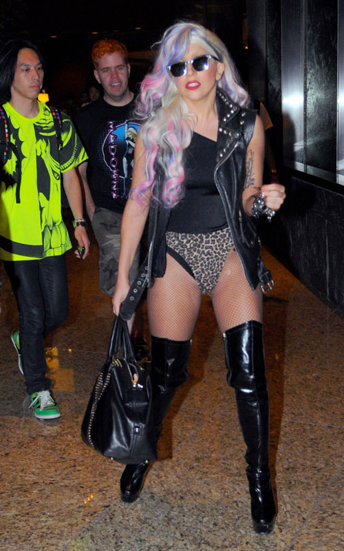 Lady Gaga out & about in japan (August 7th 2009)