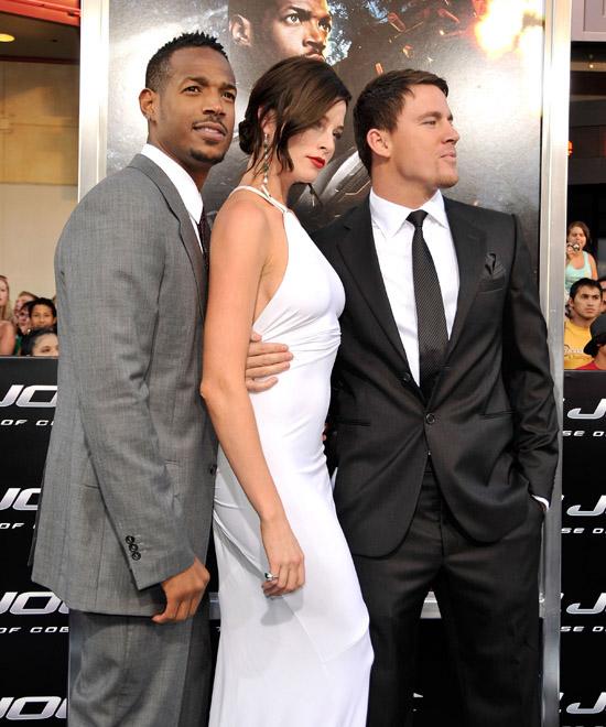 "Marlon Wayans, Rachel Nichols and Channing Tatum // ""G.I. Joe: The Rise of Cobra"" Movie Premiere"