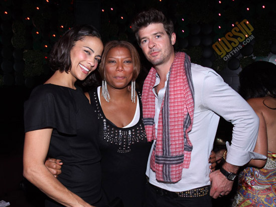 """Paula Patton, Queen Latifah and Robin Thicke // """"Just Wright"""" Film Wrap Party"""