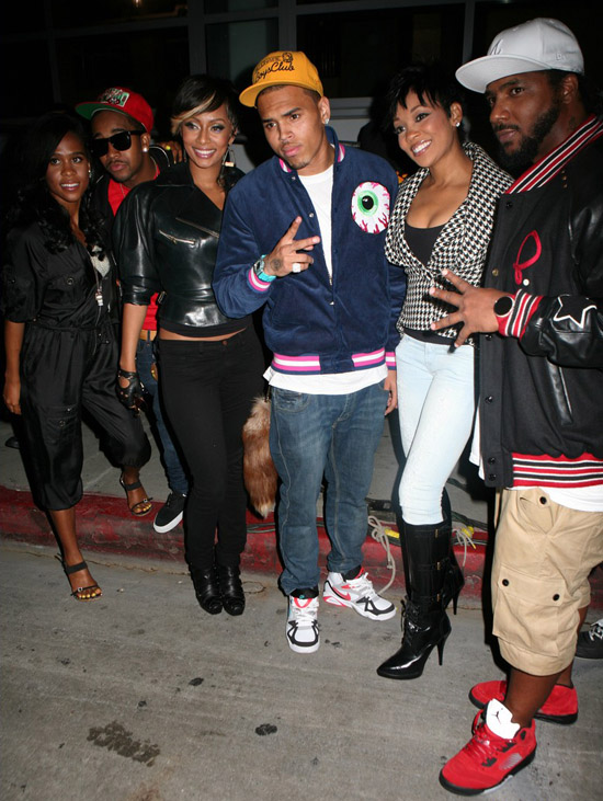 """Omarion, Keri Hilson, Chris Brown, Monica and Polow Da Don on the set of of Keri Hilson's """"Slow Dance"""" Music Video in Los Angeles (August 19th 2009)"""