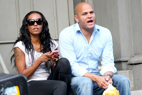 Melanie Brown and her husband Stephen Belafonte shopping in Soho, New York City (August 20th 2009)