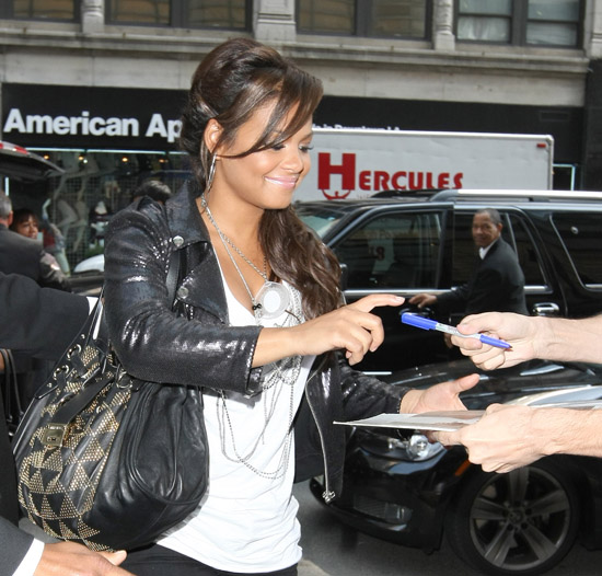 Christina Milian arriving at her hotel in New York City (August 24th 2009)