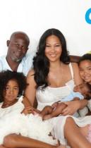 Kimora Lee, Djimon Hounsou and their son Kenzo (with Kimora's daughters Aoki and Ming) in OK! Magazine