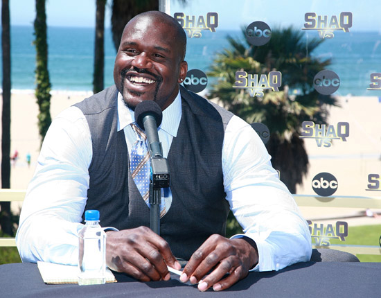 """Shaquille O'Neal at a press conference for his new ABC reality show """"Shaq Vs."""""""