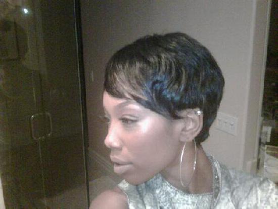 Brandy's new short haircut