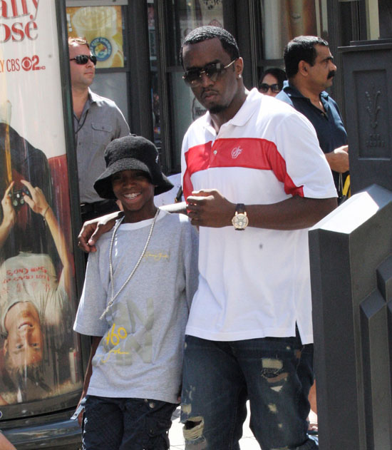 Diddy and his son Christian leave the movies in Los Angeles (September 26th 2009)