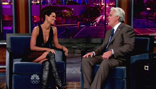 Halle Berry on the Jay Leno Show (click to watch!)