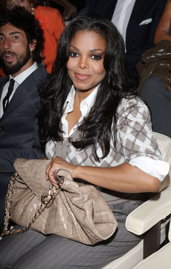 Janet Jackson // Giorgio Armani Fashion Show for Womenswear Fashion Week 2009