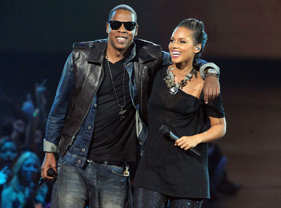 """Jay-Z and Alicia Keys performing """"Empire State of Mind"""" at the 2009 MTV Video Music Awards"""