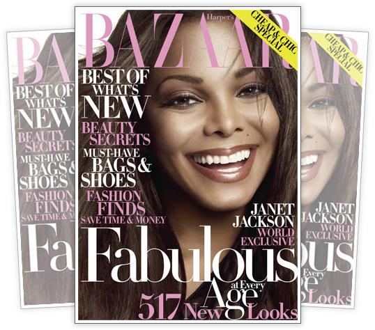Janet Jackson // October 2009 Harper's Bazaar Magazine