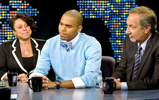 Chris Brown with his mother Joyce Hawkins and his attorney Mark Geragos