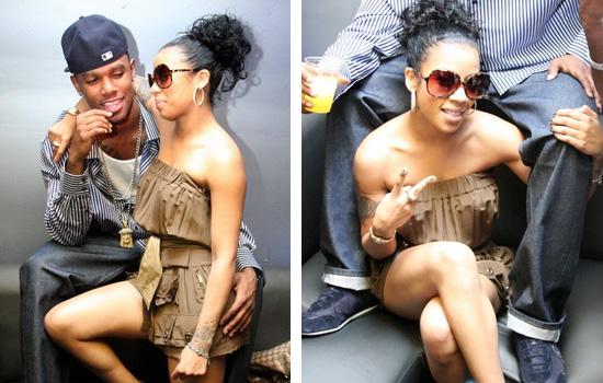 "Keyshia Cole and her boyfriend Daniel ""Boobie"" Gibson"