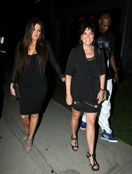 Khloe Kardashian, Kris Jenner and Lamar Odom outside BOA restaurant in Beverly Hills (September 5th 2009)
