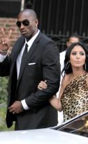Kobe Bryant and his wife Vanessa outside Khloe Kardashian & Lamar Odom's wedding in Los Angeles (September 27th 2009)