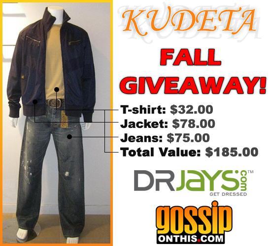 Kudeta / DrJays.com / GossipOnThis.com Giveaway!