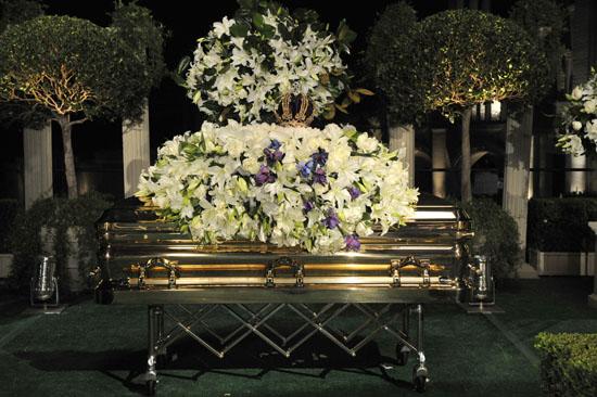 Michael Jackson's casket // Michael Jackson's Private Funeral