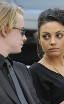Macaulay Culkin and Mila Kunis // Michael Jackson's Private Funeral