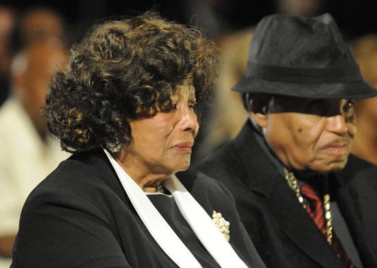 Katherine and Joe Jackson // Michael Jackson's Private Funeral