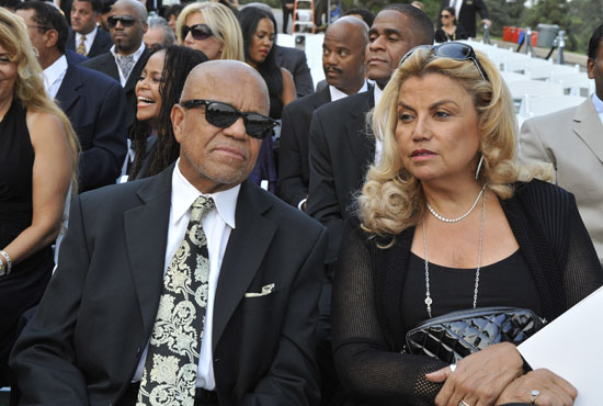 Berry Gordy and Suzanne De Passe // Michael Jackson's Private Funeral