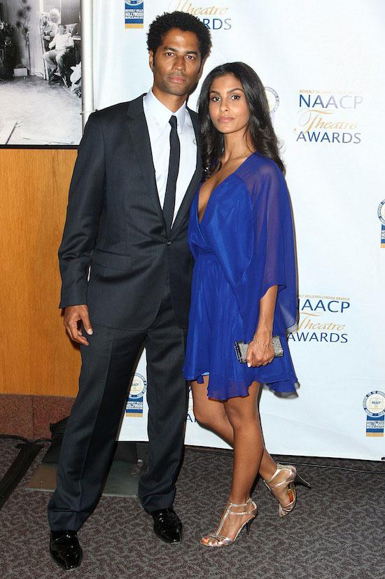 Eric Benet and his girlfriend Manuela Testolini // 2009 NAACP Theatre Awards