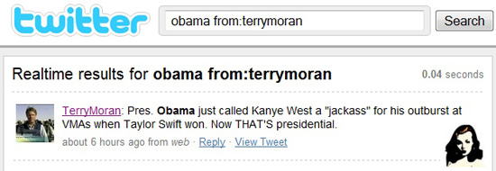 Tony Moran's tweet about President Obama calling Kanye West a Jackass