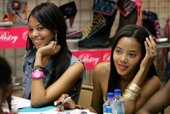 """Vanessa and Angela Simmons // In-Store Launch of """"Smoothie"""" Line of Pastry Sneakers"""