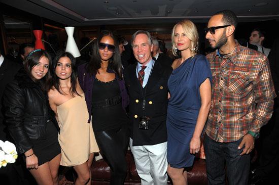 Elizabeth Hilfiger, Ally Hilfiger, Alicia Keys, Tommy Hilfiger, Dee Ocleppo and Swizz Beatz  // Tommy Hilfiger's Fifth Avenue Global Flagship Store Opening during NYFW '09