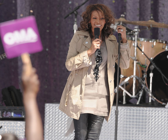 "Whitney Houston performs on ABC's ""Good Morning America"" in NYC"